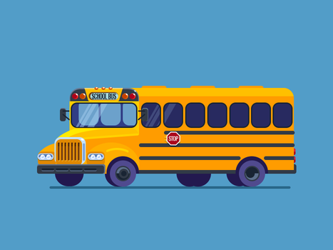 School Bus by Icondesire