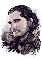 Jon Snow by SergChayote