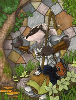 Badger at Arms by KalahariFox