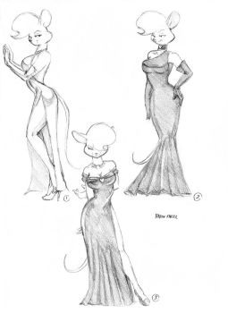 Petina's dress designs 01 by Baron-Engel