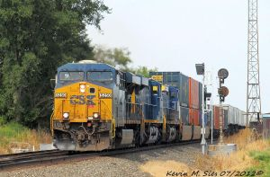CSXT 5250 Brand New 3049 and CSXT 200 lead Q007 22 by EternalFlame1891