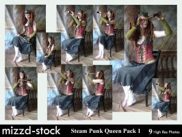 Steam Punk Queen Pack 1 by mizzd-stock