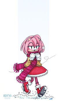 Amy in the Snow by tea-bug