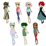 Adoptable Batch -CLOSED- by Miss-Adoptables
