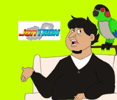 Jontron cartoon by Corilla-man