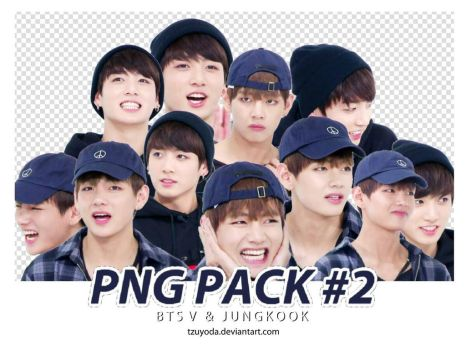 PNG PACK #2 ( BTS TAEHYUNG JUNGKOOK ) by tzuyoda