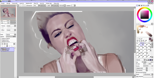 Miley Cyrus WIP by rawdi-kun