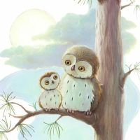 Owls In The Moonlight by alisonedgson
