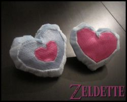 Mini Heart Piece/Container Plush by Miss-Zeldette