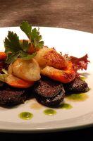 Scallops and black pudding by monkeyheadmushroom