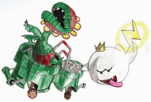 Petey Piranha, King Boo Kart by chibi22