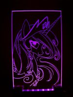 MLP - 'Princess Celestia' (ENGRAVE + LED) by Ksander-Zen