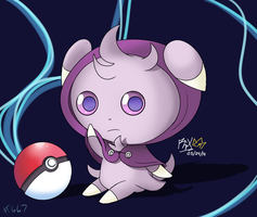 Commission: Poke'mon #667  Espurr with cloak by RGXSuperSonic