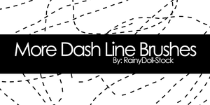 More Dash Line Brushes by RainyDoll-Stock