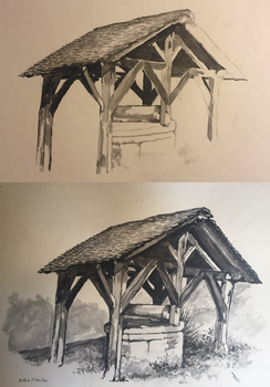 Old well step by step by ClairObscur16