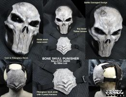 Bone Skull Punisher Details by Uratz-Studios