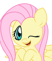 Fluttershy - Happy by Bukoya-Star