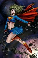 SuperGirl COLOR by prafaelb7