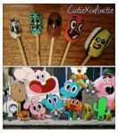 The Amazing World of Gumball Nails! by CutieXinfinitie