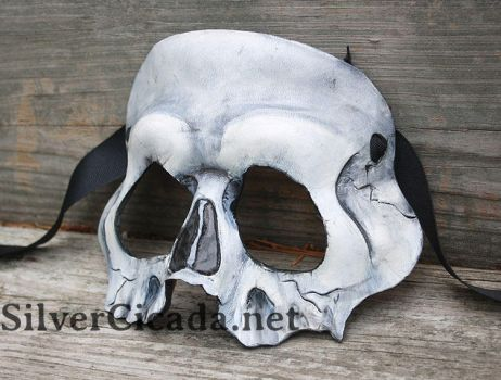 Leather skull mask by SilverCicada