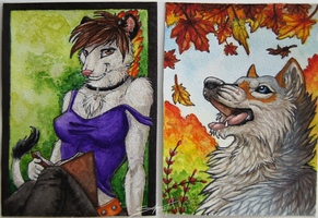 ACEO's of March by TransparentGhost