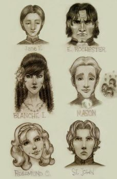cast of Jane Eyre by beckiec