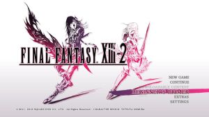 final fantasy XIII-2 - front cover of game by LightningF