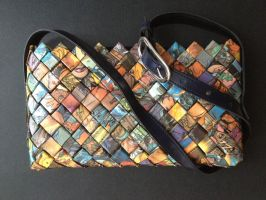 Purse with handle, Fantastic four 15 by SecondChanceCrafts