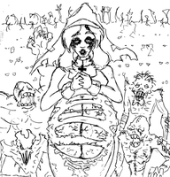 Zombie Pregnant Nun by Zihilism