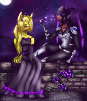 Commission: Balcony of Roses by DashelFaint