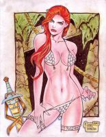 Red Sonja (#9) by Rodel Martin by VMIFerrari