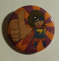 Miss Marvel Button by ToonSkribblez