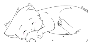 Purring Kitty Lineart by Snow-Berries