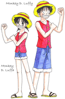 Luffy + Luffa by zoro4me3