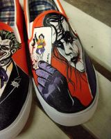 The Joker , Batman custom shoes by Annatarhouse