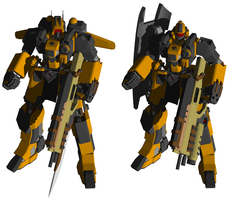 Mobile Suit NE-01 Ogre by MonkeydanceGuy