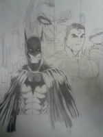 Batman and Superman by zmathis0590
