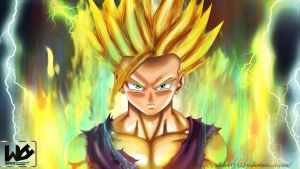 Dragon Ball super saiyan by Wilder131296