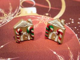Gingerbread House Earrings by yobanda