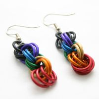 Rainbow Double Spiral Earrings by Utopia-Armoury