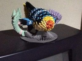 Origami 3D Coral Reef Fish by chriskilue