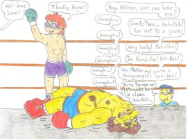 Boxing Chuckie vs Nelson by Jose-Ramiro