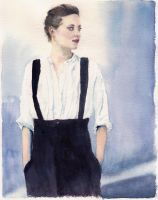 Marion Cotillard Watercolour by forget-the-sun