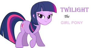 Twilight the Girl Pony by V4NN1