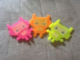 Kawaii robot perler bead set by Pokekid6