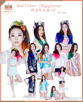 Red Velvet Happiness PNG 6P by chingyuk622