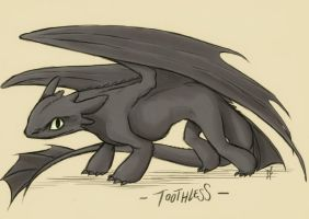 Toothless by liliacee