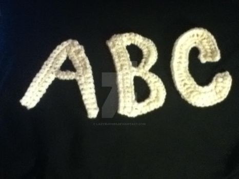 Crocheted Letters by Ladybug1985