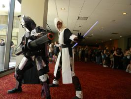 Starkiller and Mandalorian by scoldingspirit84