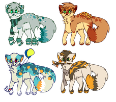 Season Themed Auction Adoptables -CLOSED- by Olivvin-Adopts
